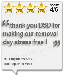 DSD Removals Harrogate | Customer Testimonials